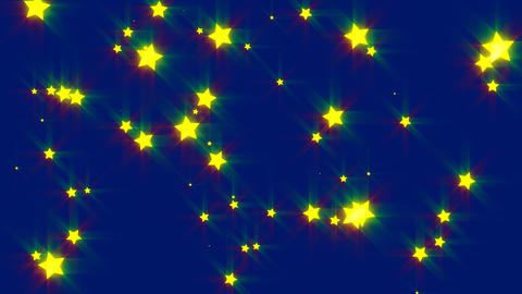 HD Looping Stars Animated Background stock footage