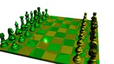 Lacquered  Green  Yellow  Chess stock footage