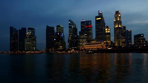 Singapore Business Center Footage