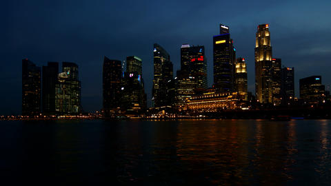 Singapore Business Center Stock Video Footage