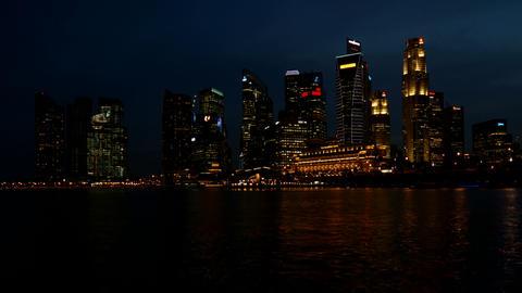 Singapore Business Center Stock Video Footage