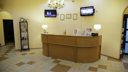Reception desk in spa cente Footage
