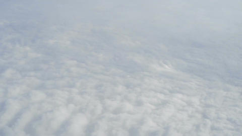 Aerial View from Airplane - Soft Clouds Footage