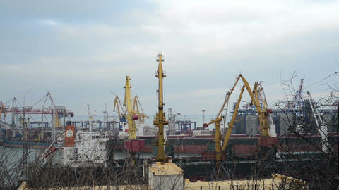 Port And Crane stock footage