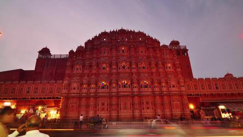 Hawa Mahal- Palace of Winds, Jaipur, India Footage