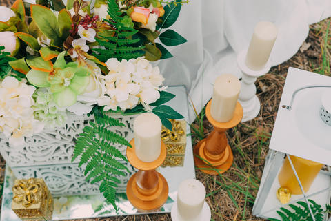 Rustic wedding photo zone. Hand made wedding decorations includes フォト