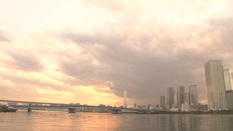 river sunset 02 動画素材, ムービー映像素材