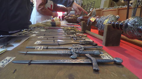 Blades on Display In The Market Live Action