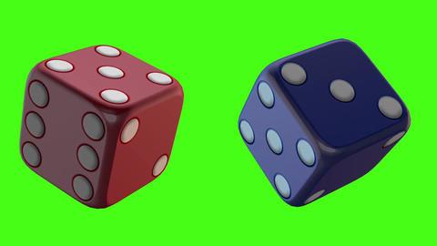 Casino gamble green screen 3d model Footage