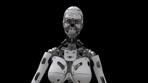Robot, Revolves Around The Axis,loop,animation,transparent Background Animation