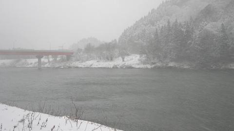Winter river snowy Footage