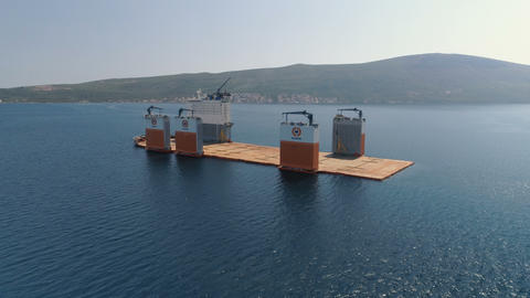 Tivat, Montenegro - 31 July 2017: Heavy lift vessel Dockwise Vanguard came to 영상물