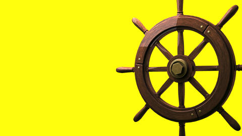 Rudder on yellow text space CG動画