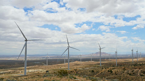 Wind Turbines In California Footage
