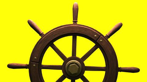 Rudder on yellow background CG動画