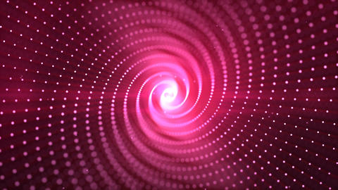 Pink and light digital abstract particles rotate background Animación