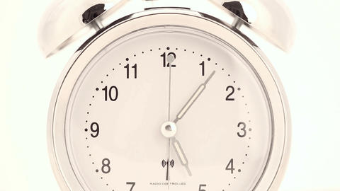 Alarm clock in time lapse starts at 12pm Footage