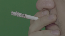 A smoldering cigarette during Smoking Footage