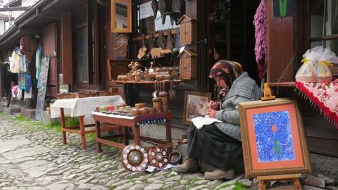 SAFRANBOLU, TURKEY - MAY 2015: Handmade Ornament Maker stock footage