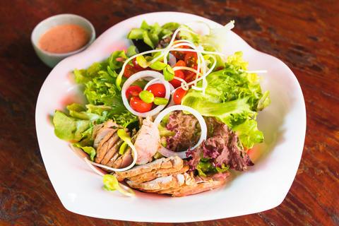 roasted pork salad Photo