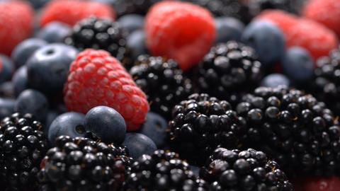 Fresh raspberries, blackberries and blueberries Footage