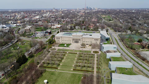 Ungraded Aerial of South Kansas City including flyover of Nelson-Atkins Museum Footage