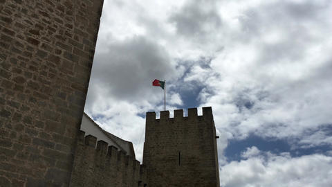 Hyperlapse at the Medieval castle of Loule Footage