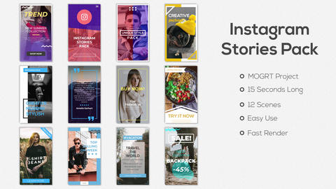 Instagram Stories Pack Motion Graphics Template