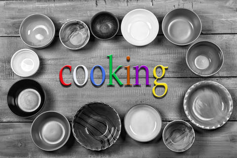 Crockery, plates, bowls, concept, cooking food, Multicolored, em フォト