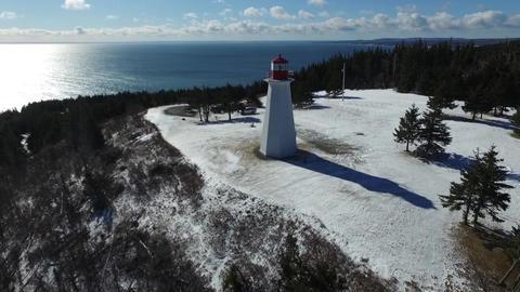 Lighthouse in Winter (Cape George, Nova Scotia, Canada) 영상물