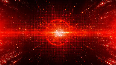 Hi-tech digital motion graphics abstract background red color Animation