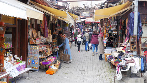 SAFRANBOLU, TURKEY - MAY 2015: Traditional Ottoman marketplace Footage