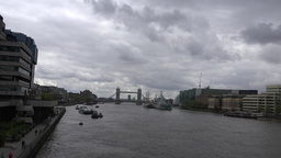 4K London Thames River stock footage