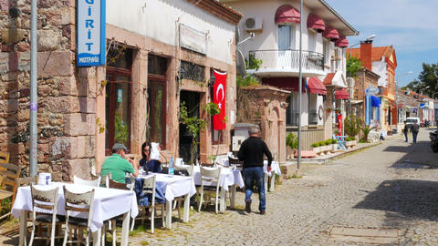 CUNDA, TURKEY - MAY 2015: traditional turkish houses, travel destination Live Action
