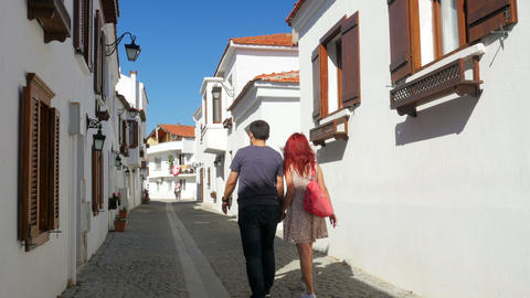SIGACIK, SEFERIHISAR, TURKEY - APRIL 2015: Daily life Travel Destination Live Action