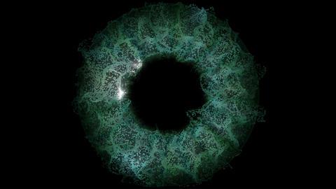 Green Eye Explosion Animation