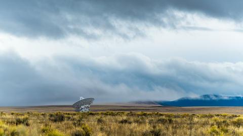 Radio Telescope Grassy Field Footage