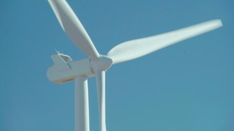 Spinning Wind Turbine Footage
