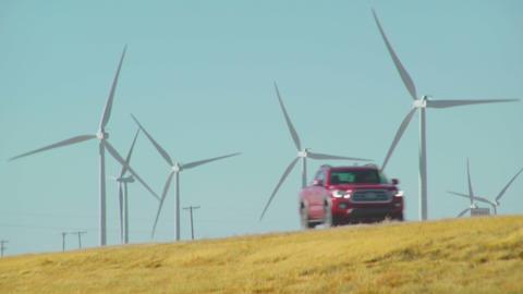 Fossil Fuels VS Wind Energy Footage