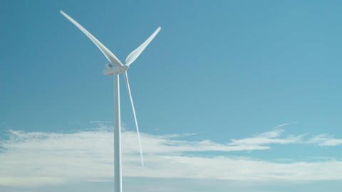 Blue Sky Wind Energy Footage