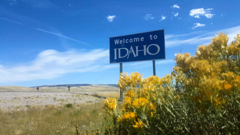 Welcome To Idaho Sign, Wide Live Action