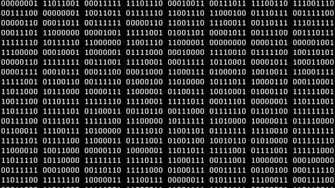 8-Bit Scrolling Binaries Screensaver Animation