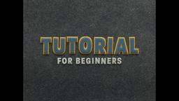 Tutorial for beginners. Stop Motion Animation 애니메이션