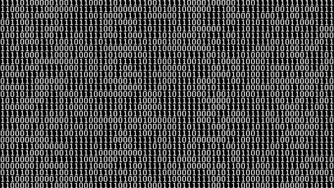 Binary Digits Screensaver Animation
