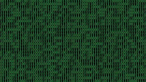 Green Binary Digits Screensaver Animation