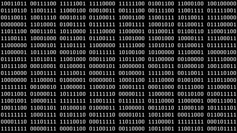 8-Bit Binaries Screensaver Animation