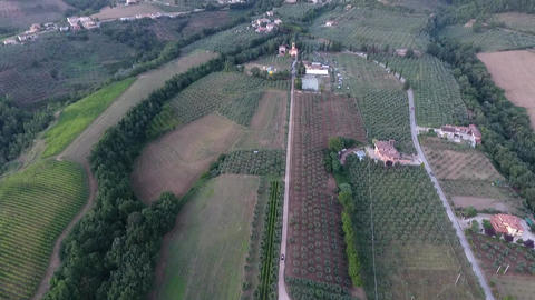 Aerial view of beautiful Umbria landscape Footage