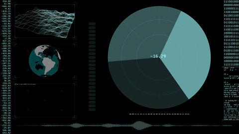 Global Tracking HUD Animación