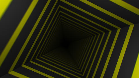 Yellow Striped Infinity Box (25fps) Animation