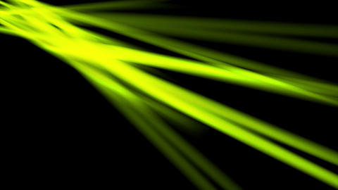 Glowing neon green smooth rays video animation Animación